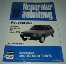 Reparaturanleitung Peugeot 205 GL / GR / GT / XL / XR / XT / SR ab 01/1983 NEU!