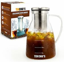 One Day Sale - Cold Brew Coffee Maker and Iced Tea maker 32 oz - 1 Quart Premium