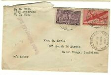 US 1943 Airmail SPECIAL DELIVERY NYC to baton Rouge! 16c rate 6c airmail 10c SD!