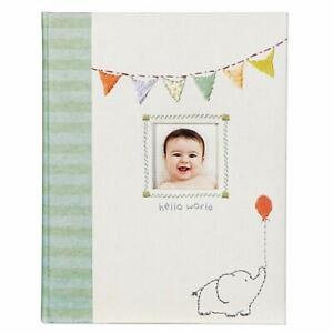 Babies First 5 Years Memory Book, Made with Love Hello World Unisex CR Gibson