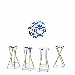 """Best of Times 13169W2105 Garden Party 30"""" Portable Padded Bar Stools Fabric S..."""