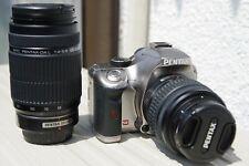 Pentax K-x Digital SLR kit with 18-55mm and 55-300mm (Custom Metallic Silver)