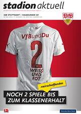 Programm Stadionheft 14/15 VfB Stuttgart HSV Hamburger SV  +Kartonbeilage 16.5.