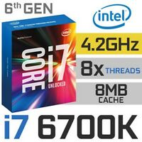 CPU i7-6700K Skylake Socket LGA1151 UNLOCKED for Desktop & CLEVO Notebooks