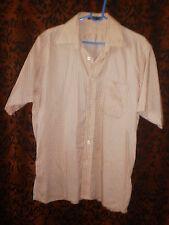 Louis Philippe, men's pale orange, cool cotton short sleeved shirt, sz 40cm/ L