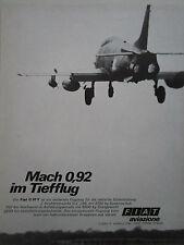 11/1969 PUB FIAT AVIAZIONE FIAT G.91 Y ITALIAN AIR FORCE ORIGINAL GERMAN AD
