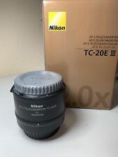 Nikon NIKKOR AF-S TC-20E 2X III Lens (TC-20E III)