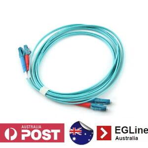 30m / 50m LC-LC OM3 Multimode Fibre Optic Patch Lead (Duplex)