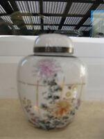 Pot à Thé Porcelaine Japonaise Décor FLEURS ET DORURES 13 cm haut