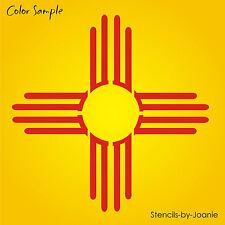 """2"""" Zia Sun Stencil Southwest New Mexico Desert Light Symbol Country Cabin Art"""