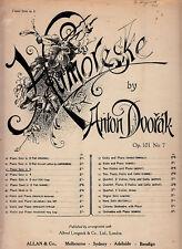 Humoreske-1906-Anton Dvorak-8 Page-Sheet Music