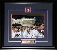 Ray Bourque & Patrick Roy Colorado Avalanche Stanley Cup 8x10 NHL Hockey Frame