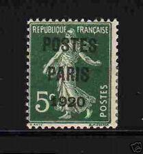 """FRANCE PREO. Y&T 24 """"5c POSTES PARIS 1920"""" NEUF x TB"""