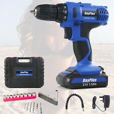 21V CORDLESS COMBI DRILL DRIVER ELECTRIC BATTERY POWER SCREWDRIVER WITH BITS SET