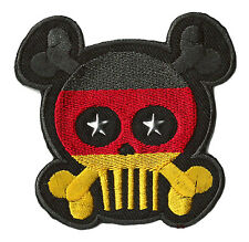 Patch écusson patche Allemagne Germany SKULL thermocollable brodé