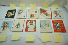 VINTAGE CHRISTMAS CARDS LOT 42 PC ALL 1950s UNUSED GREETING CARDS SANTA TREE cc