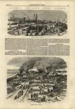 1869 Suez Canal Goods Quay Ismailia Alarming Fire Port Said