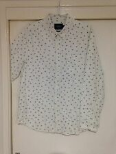 Topman Men's White Button Front Shirt Classic Fit size XL Good Condition