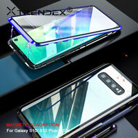 360° Magnetic Metal Tempered Glass Case Cover For Samsung Galaxy S10 Note 9 10+