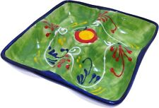 4 Compartment Tapas Tray Dish 18 cm Traditional Spanish Handmade Ceramic Pottery