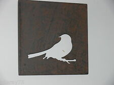 WALL ART DECOR bird metal cut out  NEW rust  indoor outdoor  .very nice