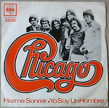 """CHICAGO 7"""" PS Make Me Smile / I'm A Man SOUTHAMERICA Edition 1970 Spanish Titles"""