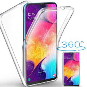 Samsung Galaxy A50 Panzerfolie 360 grad Hülle Vorne Hinten Full Cover Case