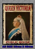 Queen Victoria Pub Sign Reproduction Pub Signs Red Lion The Crown Kings Head Pub
