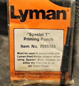 LYMAN SPECIAL T PRIMING PUNCH ~ FITS TRU-LINE JR & ALL AMERICAN PRESSES~ NEW