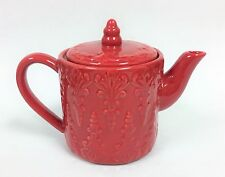 NEW HA INTERNATIONAL RED 3D TEXTURED COFFEE,TEA POT TEAPOT