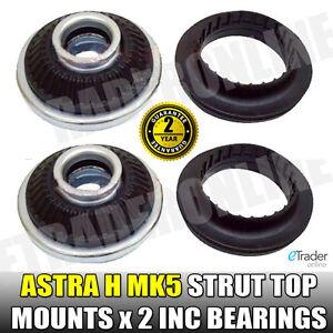Vauxhall Astra H Strut Top Mounts & Bearings MK5 Front Suspension PAIR Mount X2