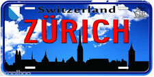 Switzerland Zürich Aluminum Novelty Car Tag License Plate