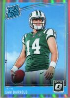 Sam Darnold 2018 Panini Donruss Optic Rated Rookie Refractor Card