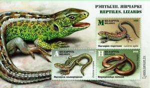Souvenir sheet of BELARUS 2018 - Reptiles Lizards MNH