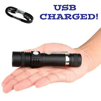 20000Lumen T6 LED 3Modes USB Rechargeable 18650 Flashlight Torch Zoom Lamp Light