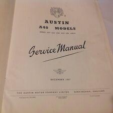 Austin A.40 Models Service Manual Austin Motor Co Ltd