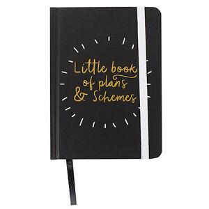 Little book of plans & schemes - Modern monochrome notebook