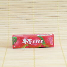 Japan Lotte UME Plum Apricot Chewing GUM Rich Japanese Candy 9 stick pack