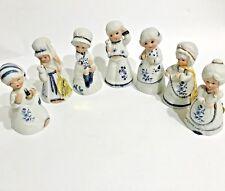 1980 JASCO Royal Majestic Porcelain Bisque Bells Set of 7 Some W/Original Tags