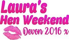 Personalised Hen Night Hen Party Lips Design Iron on transfer A5