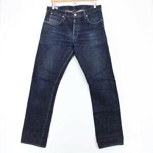 Wallace & Barnes Men's Slim Japan Selvedge USA Made Denim Jeans Indigo Sz 32x32
