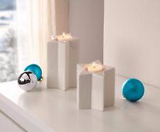 Teelichthalter Sterne 2 er Set Kerzenständer weiß Weihnachten Deko modern edel