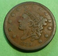 1838 Large Cent   #LC38-6