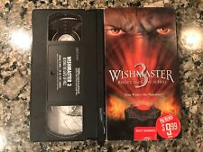 Wishmaster 3 Beyond The Gates Of Hell Vhs! 2001 Horror!