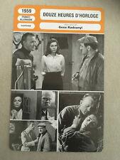 CARTE FICHE CINEMA 1959 DOUZE HEURES D'HORLOGE Lino Ventura Eva Bartok