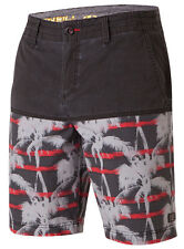 O'Neill KOOKAMONGA Mens Boardshorts 32 Black Red Grey Multi NEW