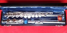 VOIGT Deutsche Vollsilber Profi Querflöte handgemacht (Hammig) silver flute