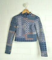 JOLIE & DEEN Blue Toned Patterned Long Sleeved Top Size S Size 8