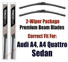 Wipers 2-Pack Premium fit 2008-2010 Audi A4, A4 Quattro Sedan - 19240/200