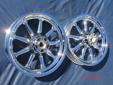 Harley Chrome 9 Spoke Road Glide Ultra Glide Wheels FLTR Fit 00-08 EXCHANGE ONLY